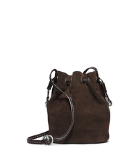 Julie Drawstring Suede Small Crossbody - ONE COLOR - 31F4TJUX1S