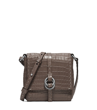 Julie Crocodile Mini Crossbody - ELEPHANT - 31F4TJUX5E