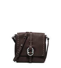 Julie Double-Ring Leather Crossbody - CHOCOLATE - 31F4TJUX5L