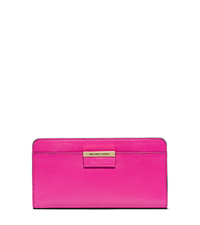 Lexi Leather Travel Wallet - FUSCHIA - 37F4GLXZ4L