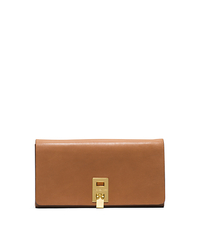 Miranda Leather Continental Wallet - LUGGAGE - 37F4GMDE2D