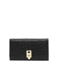 Miranda Ostrich Leather Continental Wallet - ONE COLOR - 37F4GMDE2O