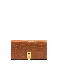 Miranda Nile Crocodile Continental Wallet - LUGGAGE - 37F4GMDW4R