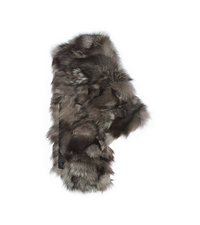 Shredded Fox Fur Scarf - ONE COLOR - 707AKD307