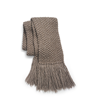 Textured Alpaca Wool Scarf - ONE COLOR - 905AKD960