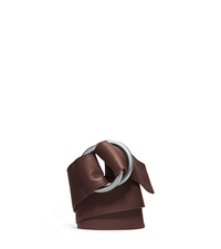 Double-Ring Grained-Leather Belt - CHOCOLATE - 31F4TBLR7L
