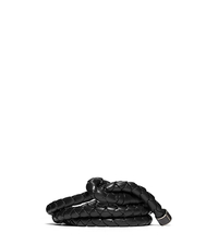 Braided Leather Belt - CHOCOLATE - 31F4TBLR5L