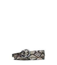 Double-Ring Python Belt - TAUPE - 31F4TBLA1P