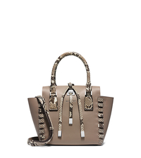 Miranda Python Trimmed-Leather Extra-Small Tote - ONE COLOR - 31F4PMWT5Y