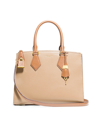 Casey Leather Large Satchel - NUDE/PEANUT - 31F4MCYS3T