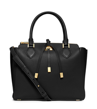 Miranda Large Leather Satchel - BLACK - 31H4GMDS7L