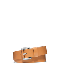 LEATHER LOOP BELT - PEANUT - 31H4TBLR2L