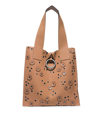 Janey Extra-Large Leather Tote - PEANUT - 31H4TJRT4L
