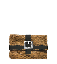Janey Large Crystal-Embellished Raffia Clutch - ONE COLOR - 31H4TJWC3W