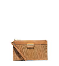 Lexi Large Sueded-Snake Zip Clutch - ONE COLOR - 37H4MLXW3Z