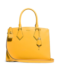 Casey Large Leather Satchel - MARIGOLD - 31F4GCYS3L
