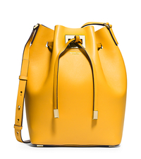 Miranda Large Leather Messenger - DAFFODIL - 31H4GMDM3L