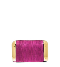Leyla Small Sueded Snakeskin Clutch - FUCHSIA - 31S5GLYC1Z