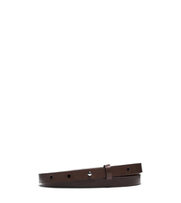 Skinny Leather Belt - NUTMEG - 31S5TBLA1L