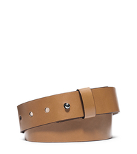 Leather Belt - PEANUT - 31S5TBLA2L