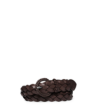 Woven-Leather Belt - NUTMEG - 31S5TBLA4L