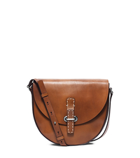 Claire Medium Leather Crossbody - LUGGAGE - 31S5TCLX6L