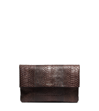 Runway Medium Python Clutch - NUTMEG - 31S5TLYC2P