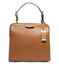 Millicent Medium Crocodile Top-Handle Bag - PEANUT - 31S5TMID2R