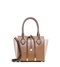 Miranda Extra-Small Color-Block Leather Crossbody - DESERT - 31H4GMBT1L