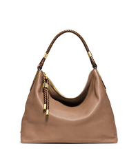 Skorpios Top-Zip Leather Shoulder Bag - DESERT - 31T4GSKL7L