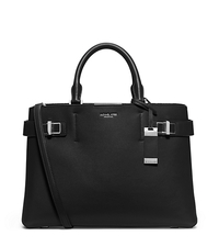 Bette Large Leather Satchel - BLACK - 31T5GBTS3L