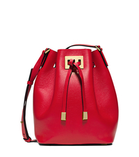 Miranda Medium Leather Messenger - CRIMSON - 31T5GMDM2L