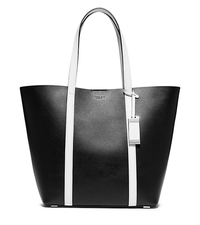 Bridget Large Leather Tote - BLACK - 31T5PBGT3L