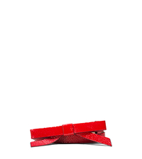 Patent Leather Bow Belt - CRIMSON - 31T5PBLA1G