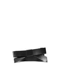 Leather Bow Belt - BLACK - 31T5PBLA2L