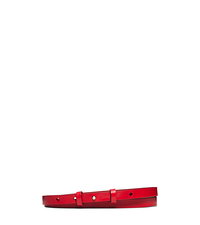 Skinny Leather Stud Belt - CRIMSON - 31T5PBLA3L