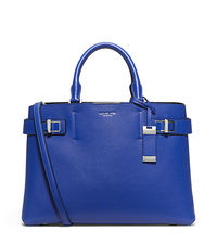Bette Large Leather Satchel - COBALT - 31T5PBTS3L