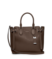 Rogers Medium Leather Satchel - ELEPHANT - 31T5PRGS2L
