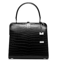 Cary Medium Nile Crocodile Top-Handle Bag - BLACK - 31T5PCAE2R