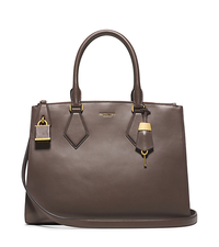 Casey Large Leather Satchel - ELEPHANT - 31S5PCYS3L