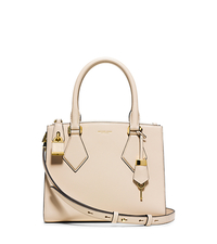 Casey Small Leather Satchel - VANILLA - 31T5PCYS1L