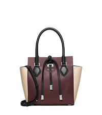 Miranda Extra-Small Color-Block Leather Crossbody - BORDEAUX - 31F4PMBT1T