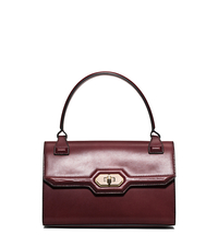 Harlington Small Leather Top-Handle Bag - BORDEAUX - 31F5AHAE1L