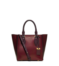 Gracie Small Leather Tote - CLARET - 31F5GGRT1L