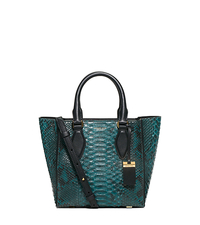 Gracie Small Python Tote - PEACOCK - 31F5GGRT1P