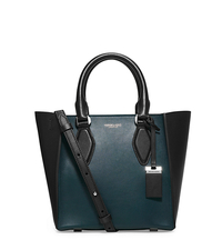 Gracie Small Two-Tone Leather Tote - PEACOCK - 31F5PGRT1L