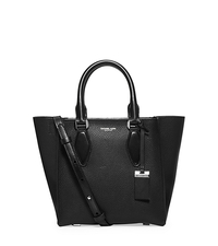 Gracie Small Leather Tote - BLACK - 31F5PGRT1U