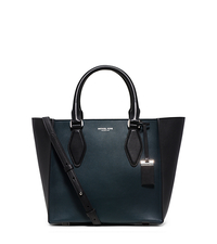 Gracie Medium Color-Block Leather Tote - PEACOCK - 31F5PGRT2L