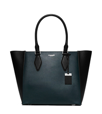 Gracie Large Color-Block Leather Tote - PEACOCK - 31F5PGRT3L