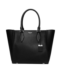 Gracie Large Leather Tote - BLACK - 31F5PGRT3U